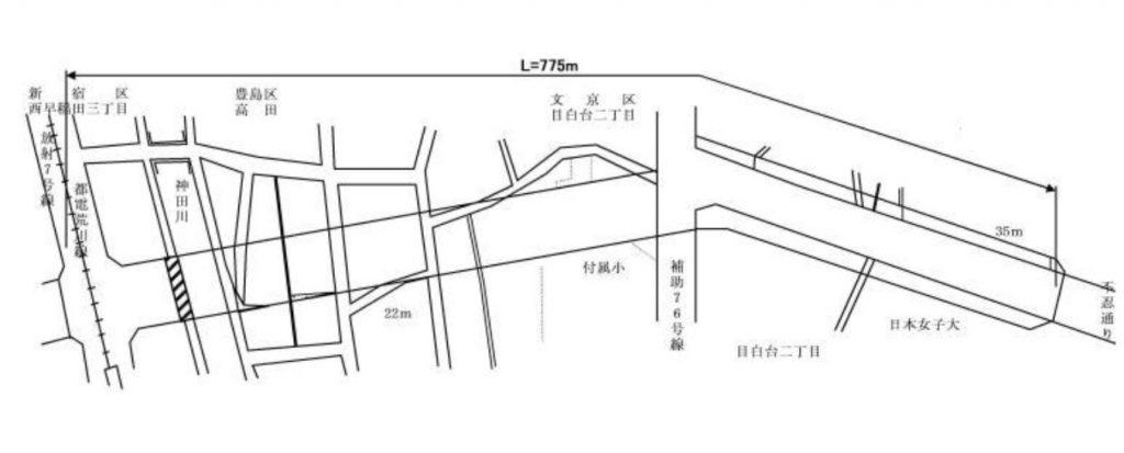 都市計画道路-環状第4号線-豊島区高田-概要図