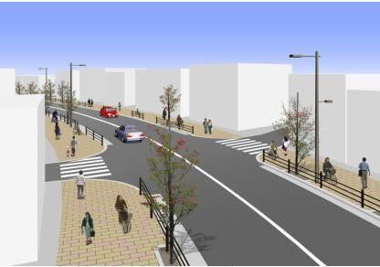 豊島区池袋-都市計画道路-補助173号線-完成予想図
