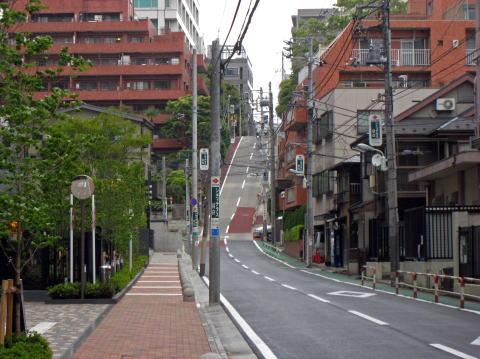 豊島区高田-坂道