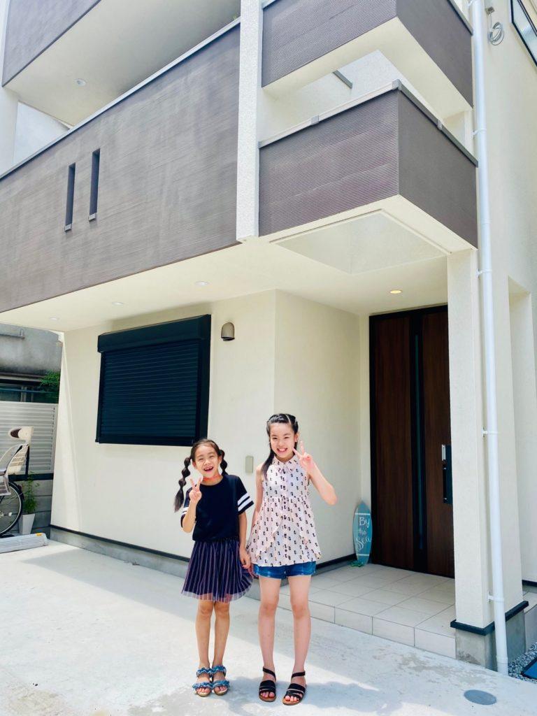 新築戸建て 家族写真